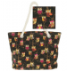 Colourful Owl Print Tote Bag Available in Pink, Black or Grey 49822